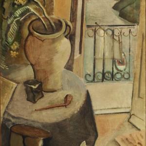 Stilleven-bij-open-balkondeur-1926