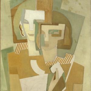 Dubbelportret - Aditya en Magda - 1917 Otto van Rees